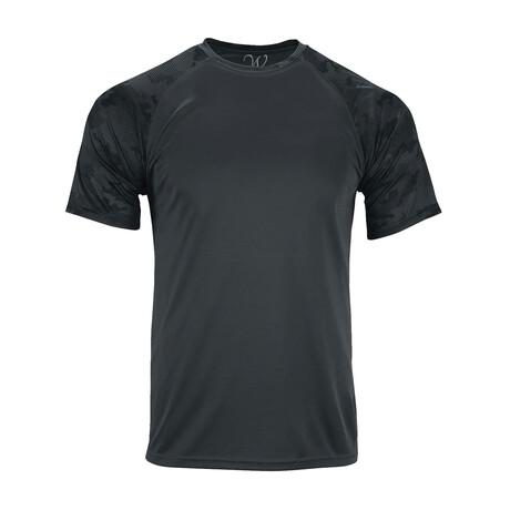 Performance Basics Dri-Tech Raglan Camo-Contrast Tee // Black (S)