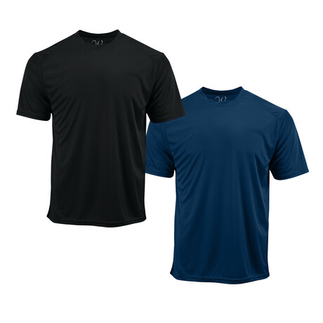 Performance Basics Dri-Tech Tees // Black + Navy // Pack of 2 (S)