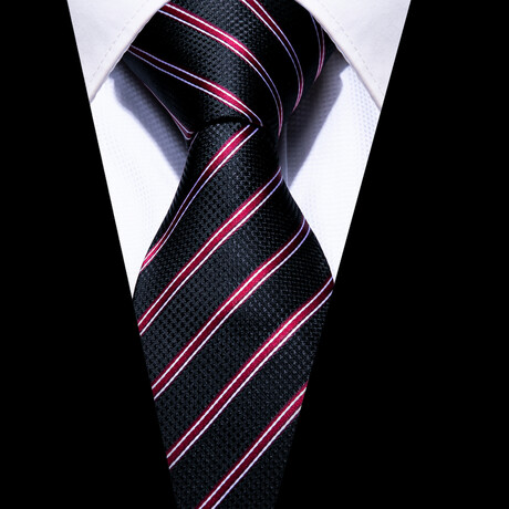 Dusan Silk Tie // Black + Red