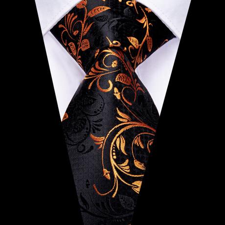 Augustus Silk Tie // Black