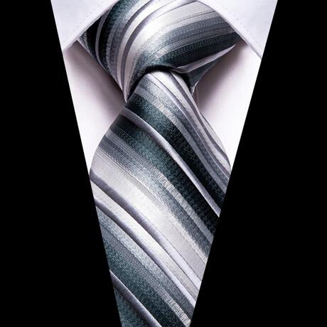 Saren Silk Tie // Silver