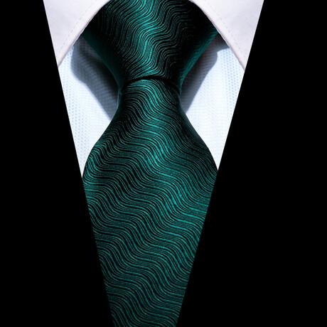 Jude Silk Tie // Green