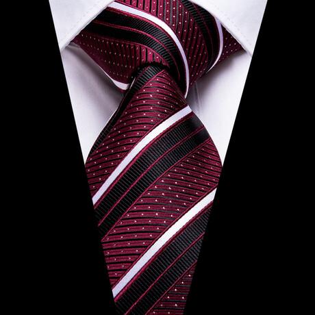 Zeke Silk Tie // Burgundy