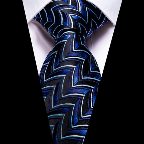 Ethan Silk Tie // Blue + Black