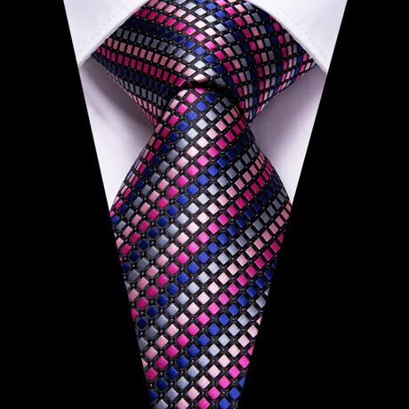 Conal Silk Tie // Blue + Pink