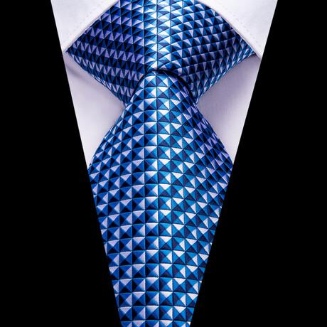 Starry Silk Tie // Blue