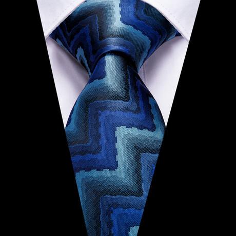 Bowie Silk Tie // Blue + Teal