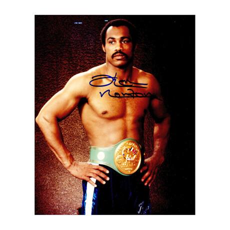 Ken Norton // Signed Photo // Boxing Pose With Belt // 8X10