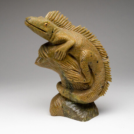 Genuine Polished Hand Carved Serpentine Lizard