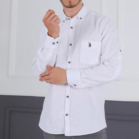 Domenico Button Down Shirt // White (Small)