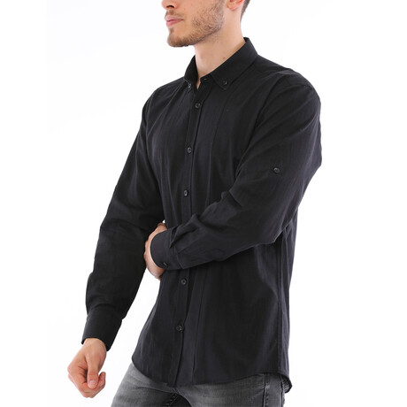 Giulio Button Down Shirt // Black (Small)