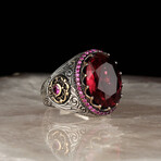 Classy Red Cubic Zirconia Ring (8.5)