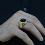 Round Black Onyx Ring (8)