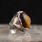 Stylish Tigers Eye Ring (9)