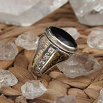 Amethyst + Diamonds Ring (8.5)