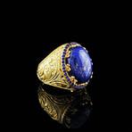Engraved Lapis Lazuli Ring (7)