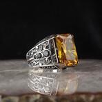 Emerald Cut Citrine Ring (6)