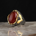 Red Agate Ring (5.5)
