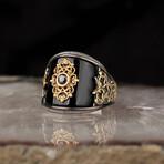 Curved Black Onyx Ring (8)