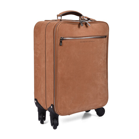 Brunello Cucinelli // Suitcase Trolly // Light Brown
