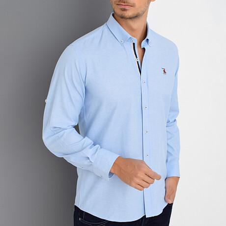 Louis Button Down Shirt // Light Blue (Small)