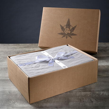 Organic Hemp Sheet Set // Light Gray (Twin XL)