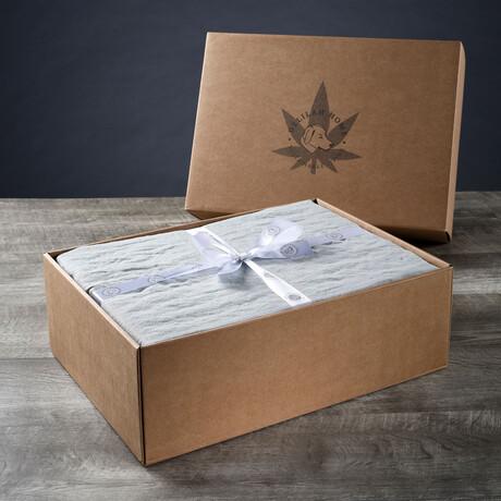 Organic Hemp Sheet Set // Mineral Green (Twin XL)