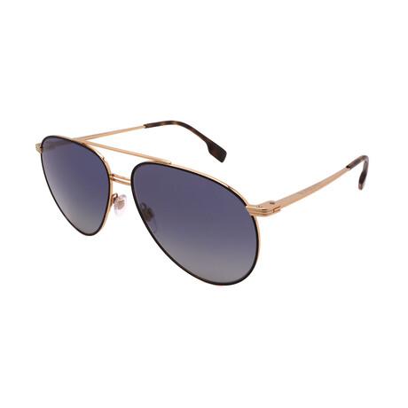 Burberry // Men's BE3108-10174L Aviator Sunglasses // Matte Black + Gold