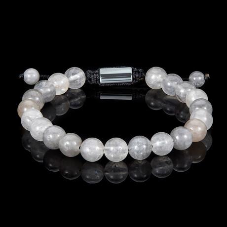 Natural Stone Beads Adjustable Cord Tie Bracelet // 8mm (Lapis Lazuli)