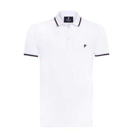 Brooks Polo // White (S)