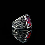Classy Garnet Stone Ring (9)