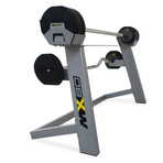 MX80 Barbell and EZ Curl Bar Combo With Stand