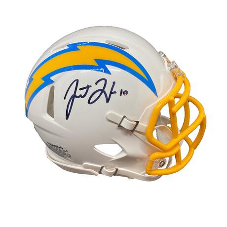 Justin Herbert // Signed Mini Helmet // Los Angeles Chargers