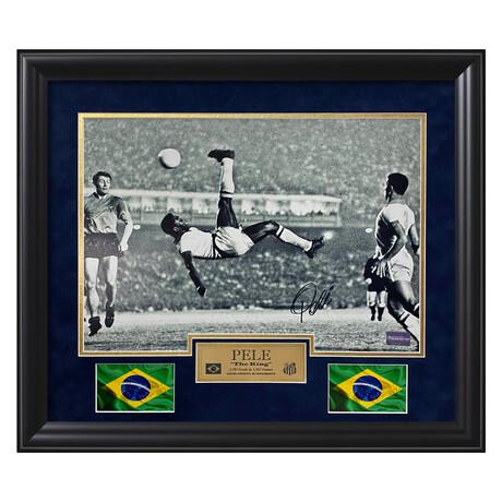 Pelé // Framed + Signed Photograph // Brazil