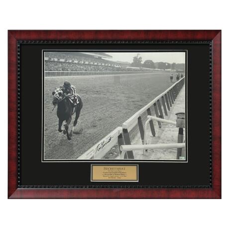 Secretariat // Ron Turcotte // Framed + Signed Photograph Ver. 1