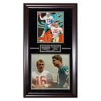Dan Marino & Joe Montana // Framed + Signed // Miami Dolphins & San Francisco 49ers
