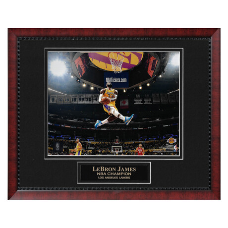 Lebron James // Framed + Unsigned // Los Angeles Lakers