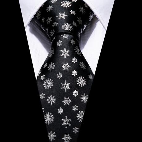 Macke Silk Tie // Black + White