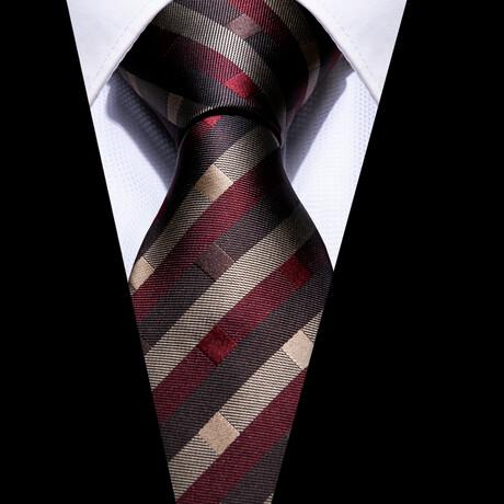 Manet Silk Tie // Maroon + Brown