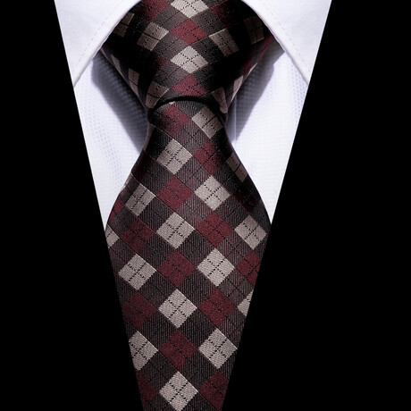 Crosby Silk Tie // Brown