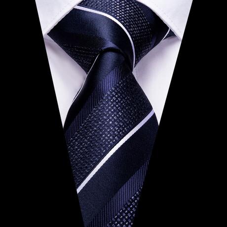 Irises Silk Tie // Navy