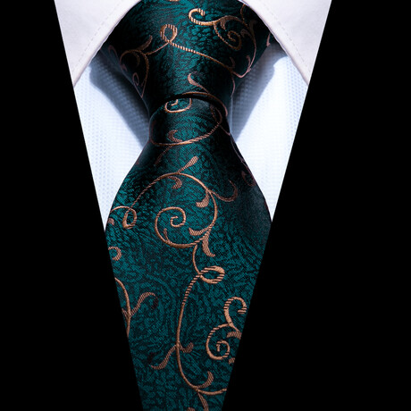 Greco Silk Tie // Forest Green