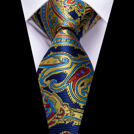 Terrace Silk Tie // Navy + Gold