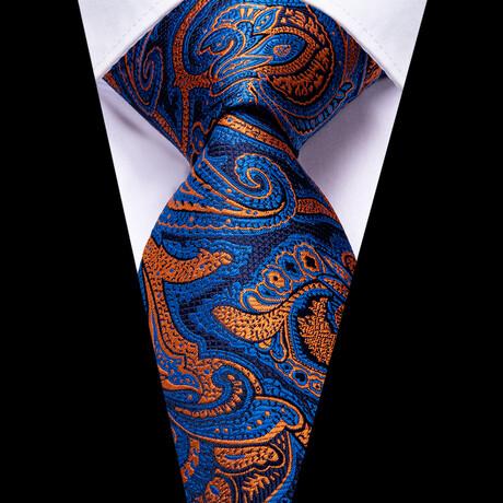 Knick Silk Tie // Navy + Orange