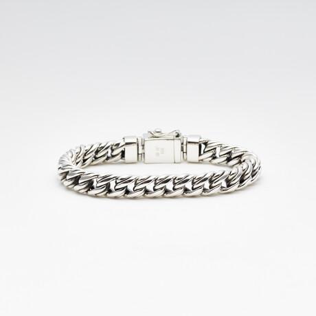 Men's Double Cuban Bracelet // Silver