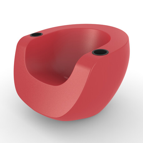 Splash Moon Chair // Red (Single)