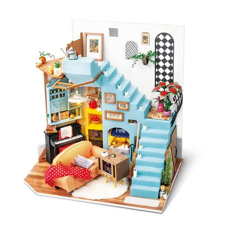 DIY Mini House// Joy's Peninsula Living Room