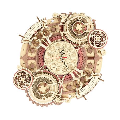 DIY Mechanical Gear 3D Wooden Puzzle // Zodiac Wall Clock