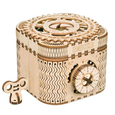DIY Mechanical Gear 3D Wooden Puzzle // Treasure box