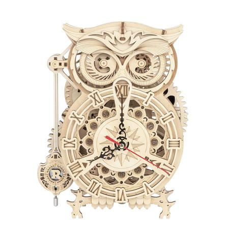 DIY Mechanical Gear 3D Wooden Puzzle // Owl clock